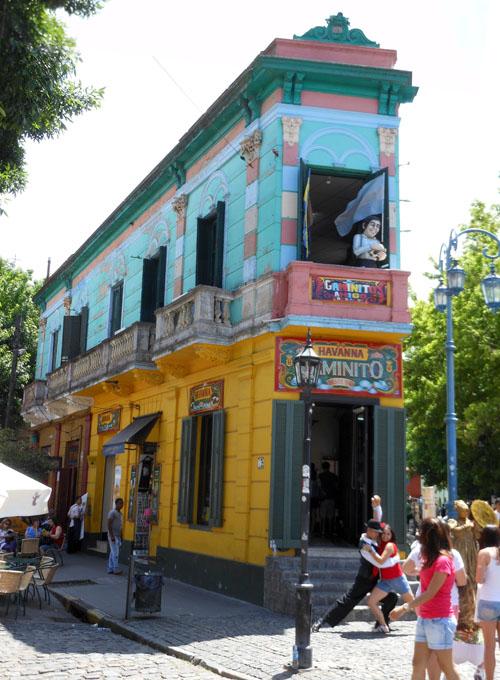 Buenos Aires, La Boca - Caminito Havanna on Araoz de Lamadrid street