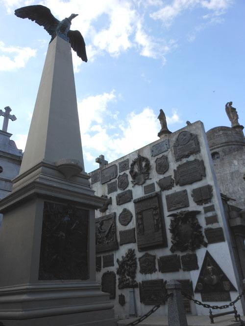 Buenos Aires, Recoleta Cemetery - Faustino Domingo Sarmiento monument