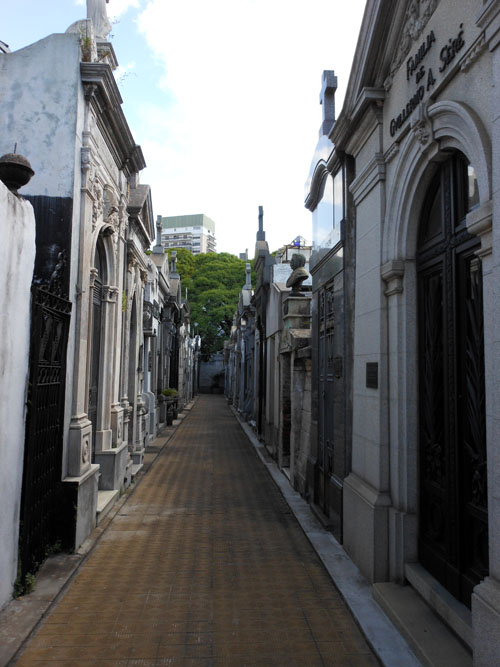 Buenos Aires, Recoleta Cemetery - one of the streets