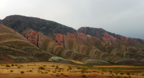 Colourful mountains on the way to San Salvador de Jujuy