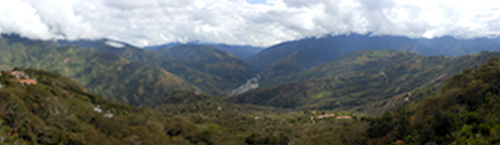 Coroico - panoramic views from the hotel