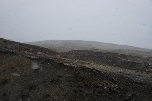 Coroico - snow on route from La Paz