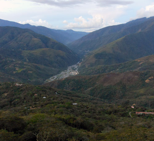 Coroico - view down the valley