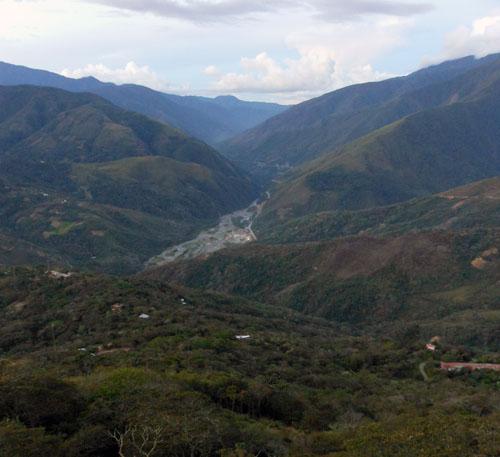 Coroico - view down the valley