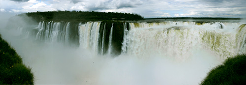 Iguazu (Argentina) - Garganta del Diablo (Devil's Throat) waterfall panorama