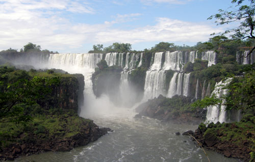 Iguazu (Argentina) - panoramic view of San Martin waterfall