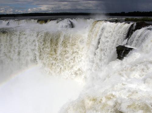 Iguazu (Argentina) - rainbow at Garganta del Diablo (Devil's Throat) waterfall