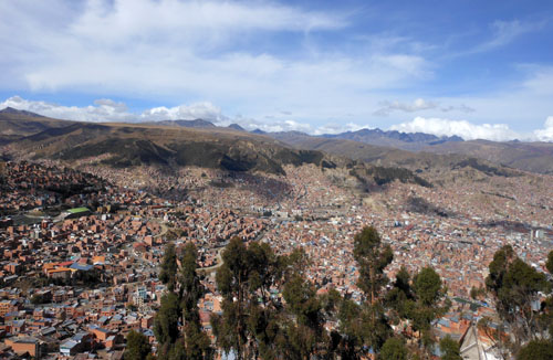 La Paz - panorama of the highest capital in the world