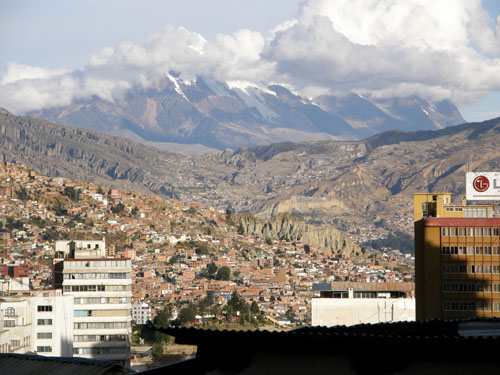 La Paz - views from Hotel Fuentes