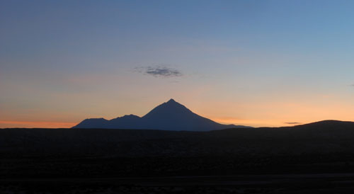 Oruro to Villazon train - sunrise