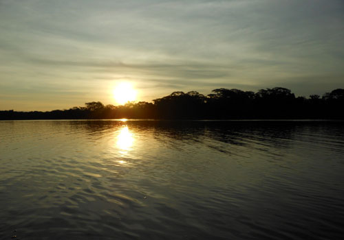 Serere Reserve - sunset over the San Fernando lake
