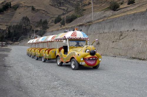 Traffic in Ecuadorian mountains