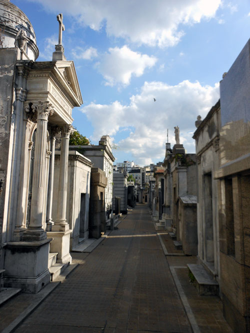 Argentina, Buenos Aires, Recoleta Cemetery - streets full of monuments