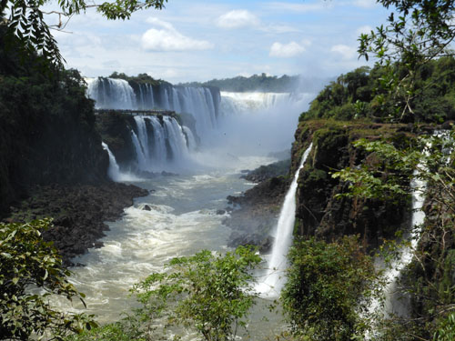 Argentina, Iguazu National Park - Devil's Throat (Garganta del Diablo) waterfall from San Martin island