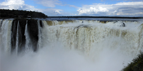 Argentina, Iguazu National Park - Devil's Throat (Garganta del Diablo) waterfall
