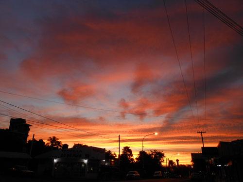 Argentina, Puerto Iguazu - spectacular sunset colours