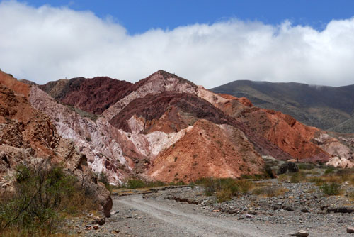 Argentina, Quebrada de Purmamarca - amazing colours of the mountains