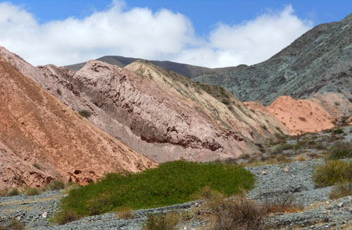 Argentina, Quebrada de Purmamarca - fantastic spectrum of mountain colours