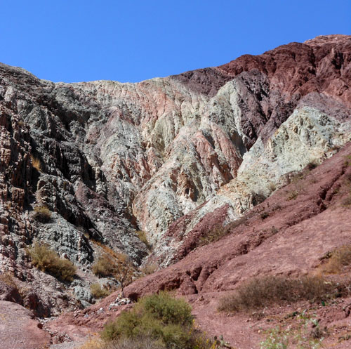 Argentina, Quebrada de Purmamarca - from greens to purples