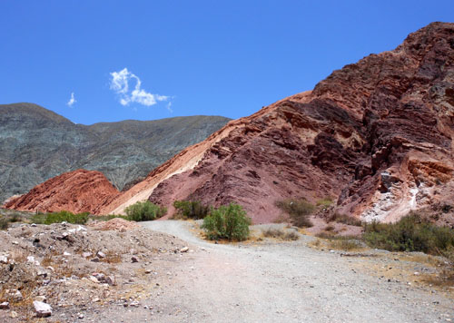 Argentina, Quebrada de Purmamarca - last look on the mountains