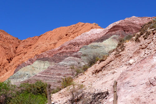 Argentina, Quebrada de Purmamarca - start of the seven colours mountain trail