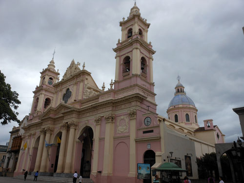 Argentina, Salta - cathedral on the plaza 9 de Julio