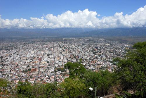 Argentina, Salta - panoramic views from teleferico