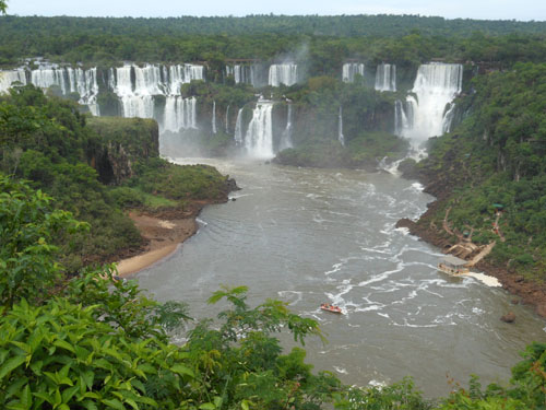 Brazil, Iguazu National Park - San Martin waterfall from the distance