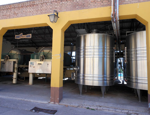 Maipu, Baudron winery - industrial machinery