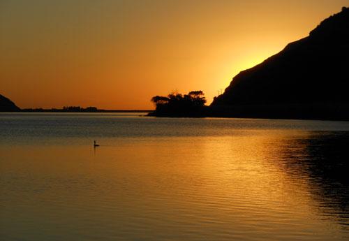 Lake Forsyth sunset