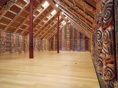 New Zealand, North Island - Auckland museum, reconstruction of Maori hut