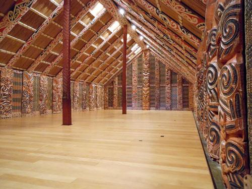 New Zealand, North Island - Auckland museum, reconstruction of Maori hut