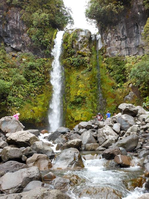 New Zealand, North Island - Dawson Falls at Mount Taranaki