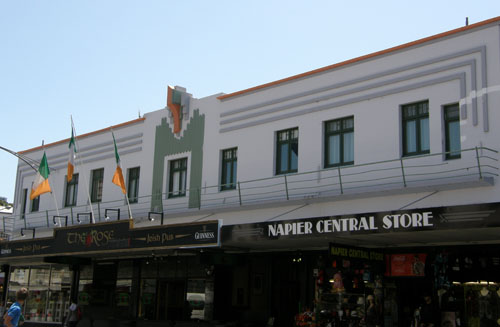 New Zealand, North Island - Napier, art deco central store