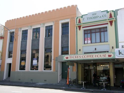 New Zealand, North Island - Napier, art deco coffee shop