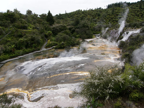 New Zealand, North Island - Orakei Korako, thermal terraces