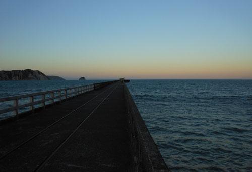 New Zealand, North Island - Tolaga Bay, the wharf at sunset