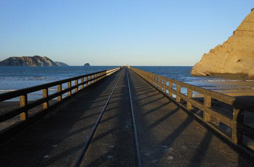 New Zealand, North Island - Tolaga Bay, the wharf