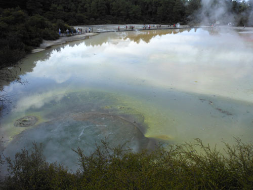New Zealand, North Island - Waiotapu Thermal Wonderland, the artist's palatte