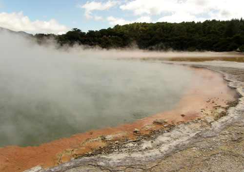 New Zealand, North Island - Waiotapu Thermal Wonderland, the champagne pool