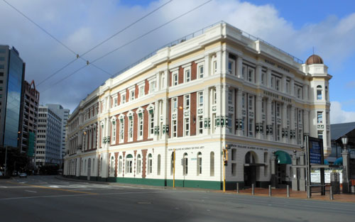 New Zealand, North Island - Wellington, Academy of Fine Arts art deco building