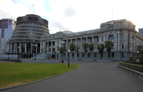 New Zealand, North Island - Wellington, the parliment