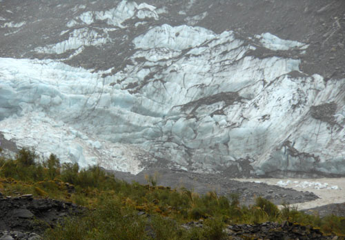 New Zealand, South Island - face of the Fox glacier
