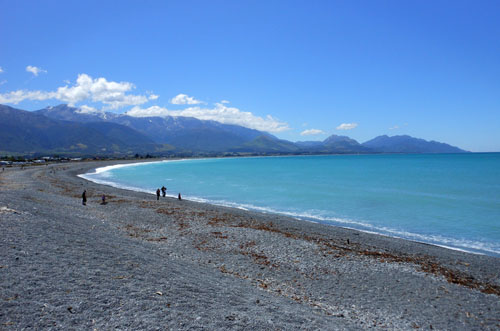 New Zealand, South Island - Kaikoura, pebble beach
