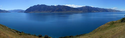 New Zealand, South Island - Lake Hawea panorama