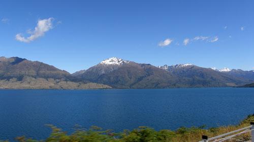 New Zealand, South Island - Lake Wanaka panorama