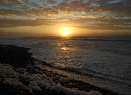 New Zealand, South Island - Paroa beach sunset