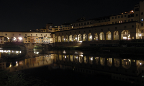 Florence River by Night, Tuscany, Italy