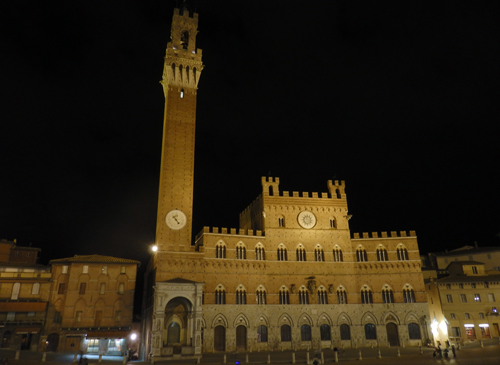 Siena Piazza by Night, Tuscany, Italy