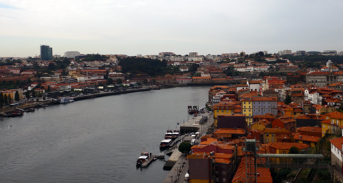 River Douro dividing Porto, Portugal